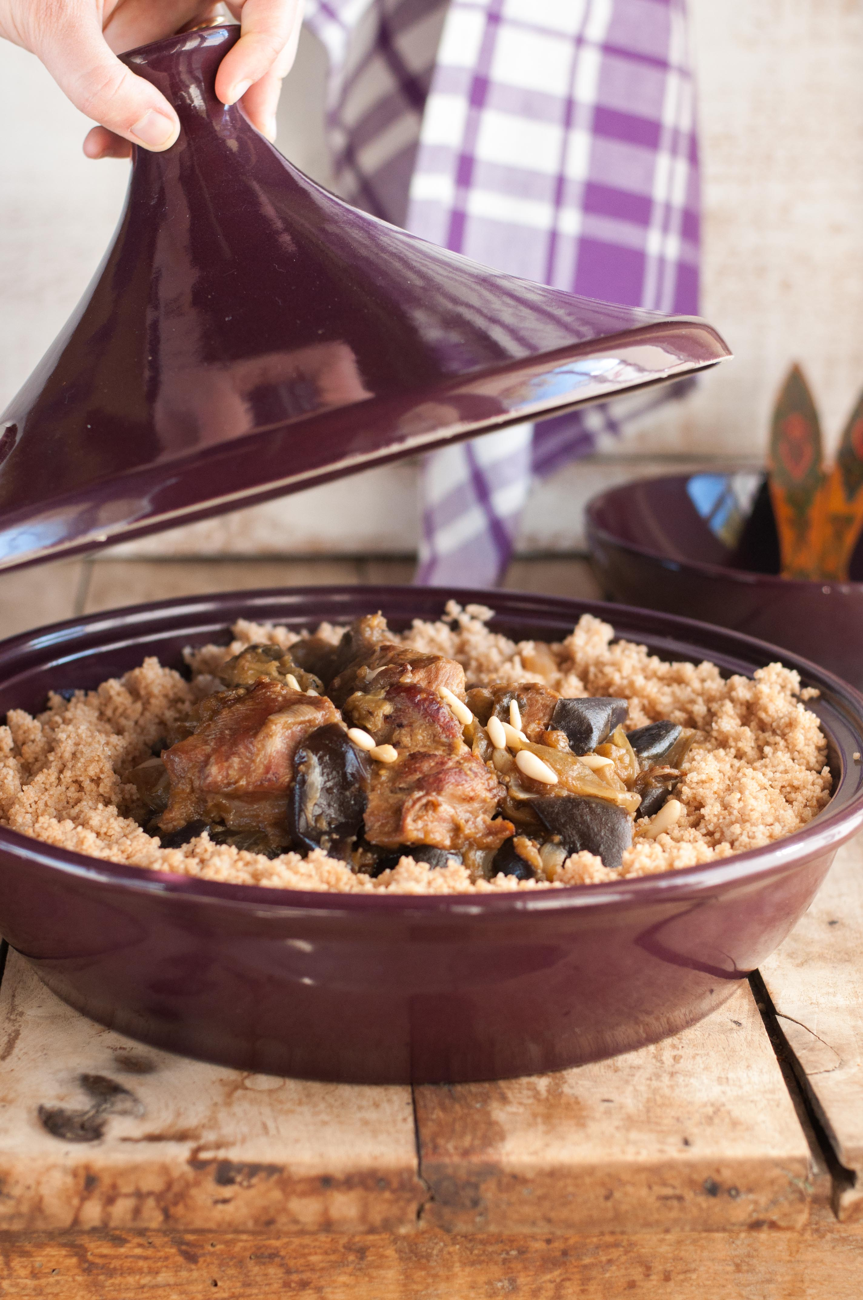 tajine de veau aux aubergines
