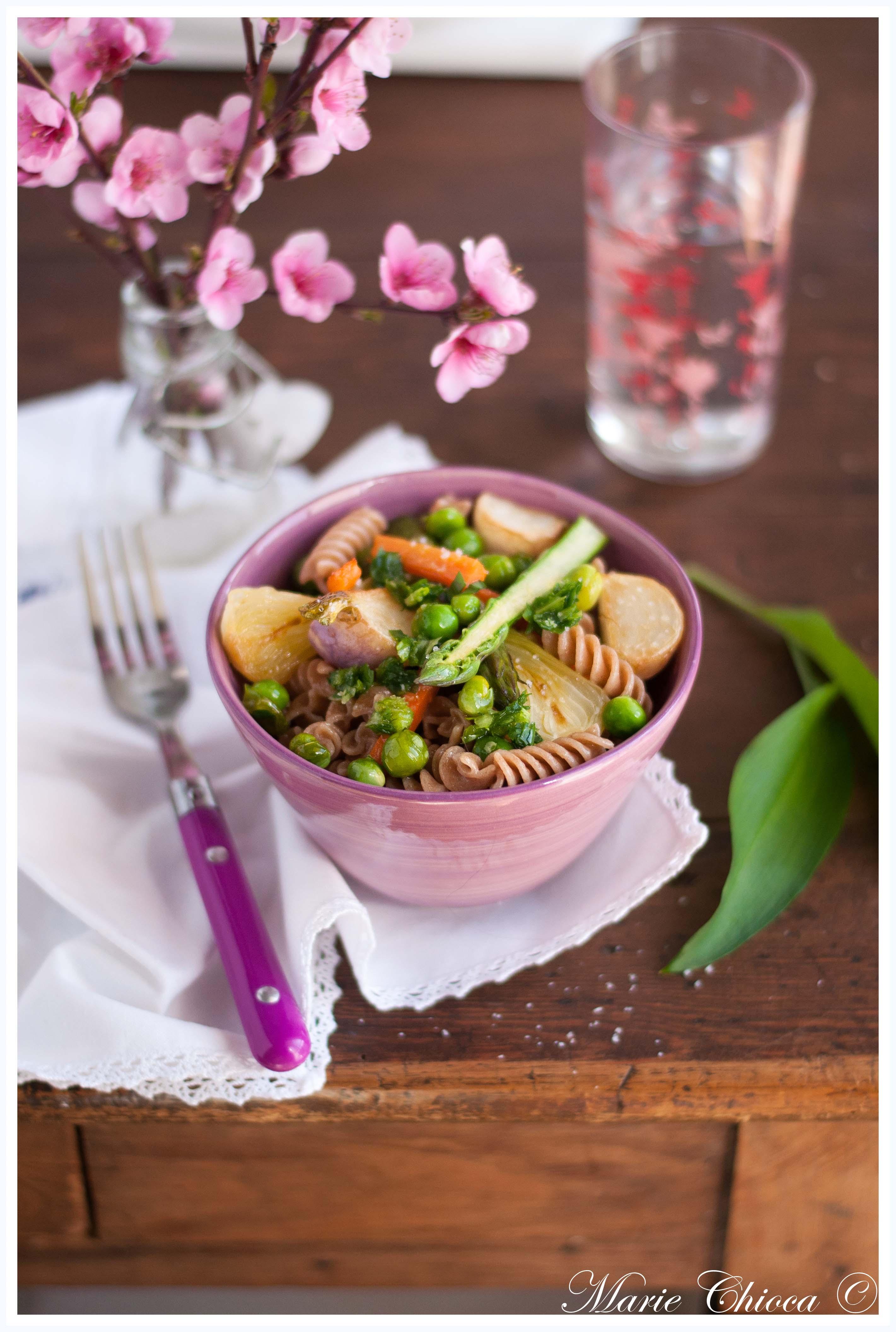 pasta primavera aux légumes croquants 4-2
