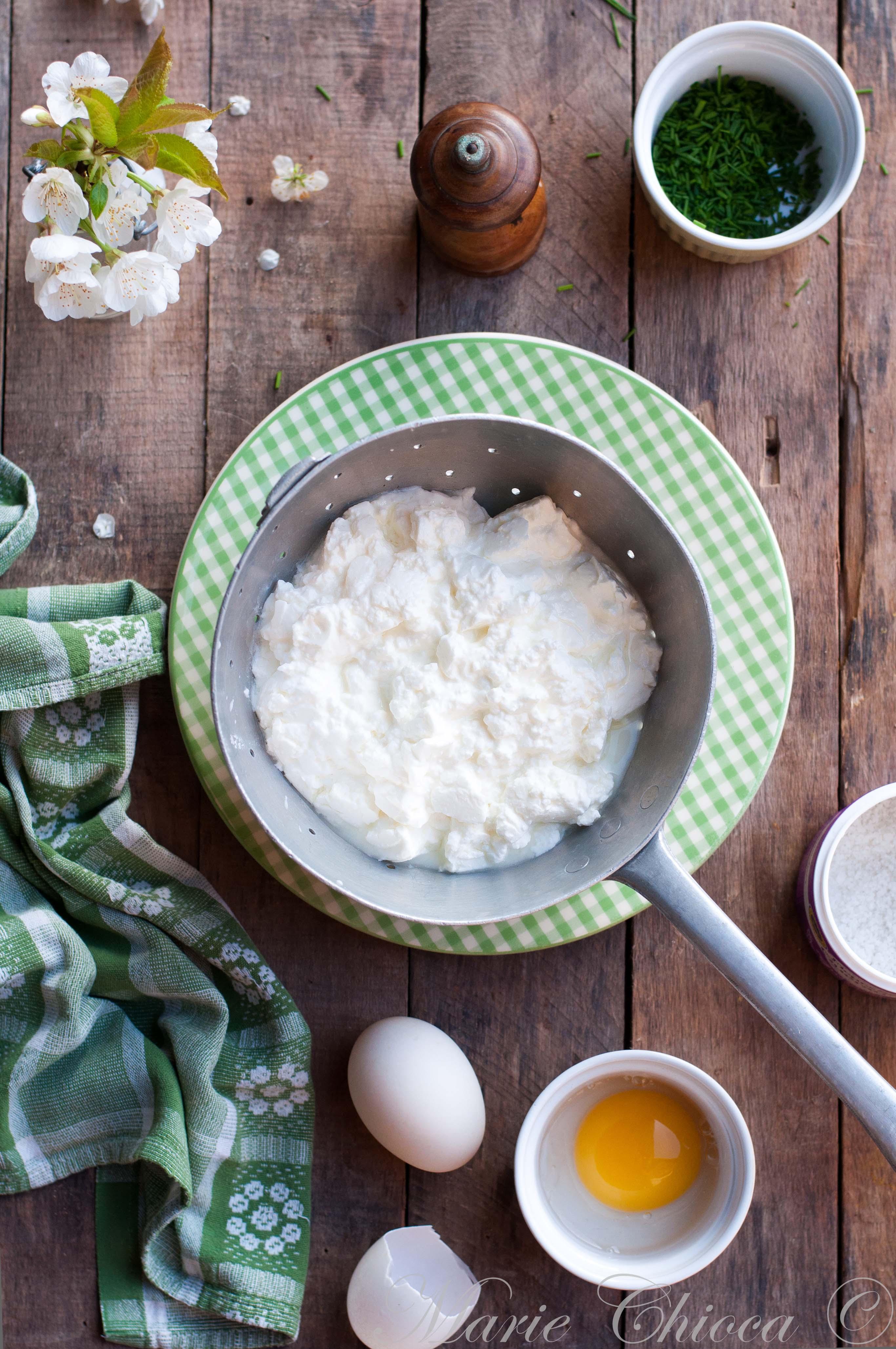 Tarte printanière à la faisselle de chèvre et aux cebettes (faisselle)