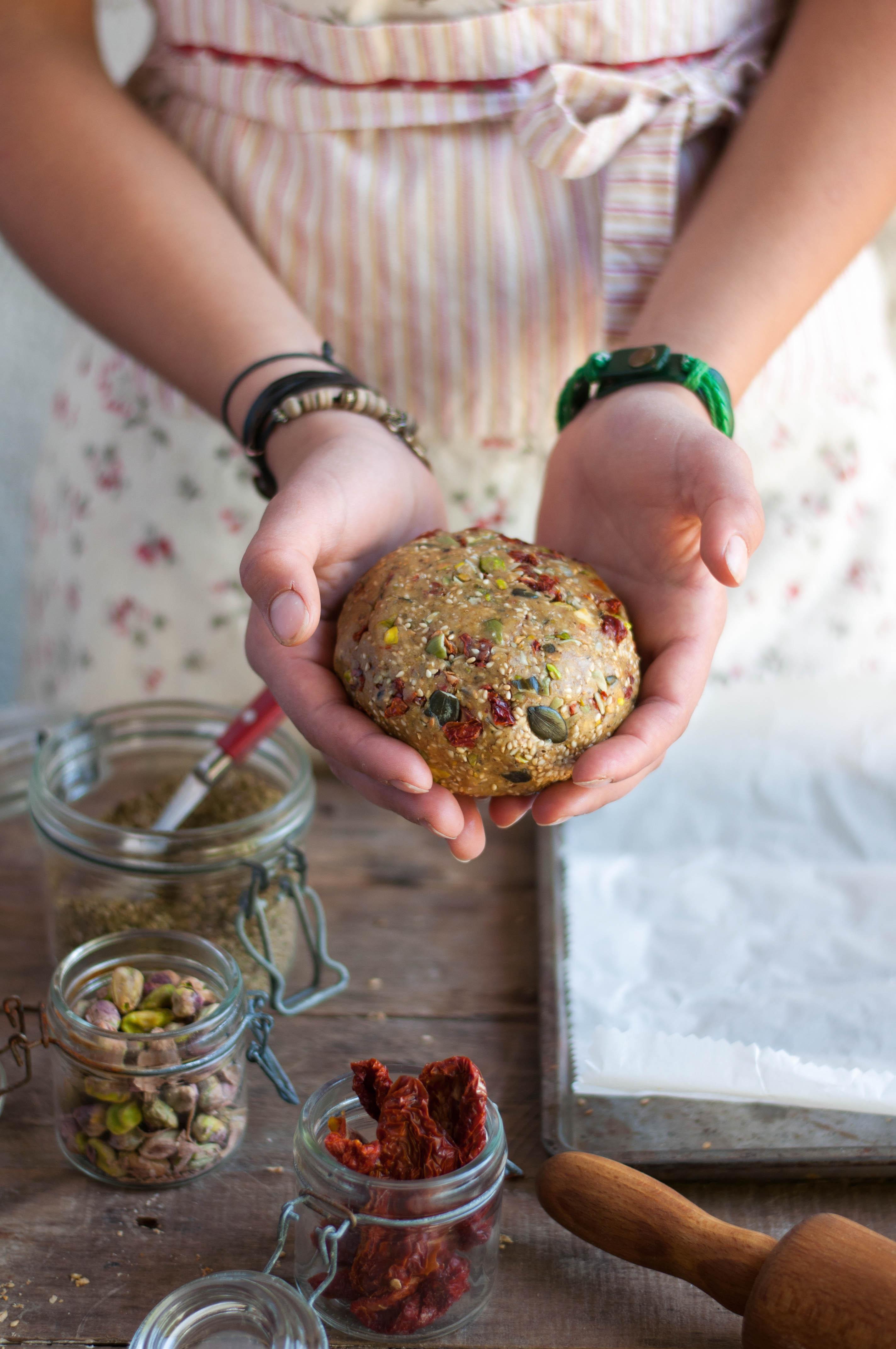 Crackers de petit épeautre aux graines (pâte)