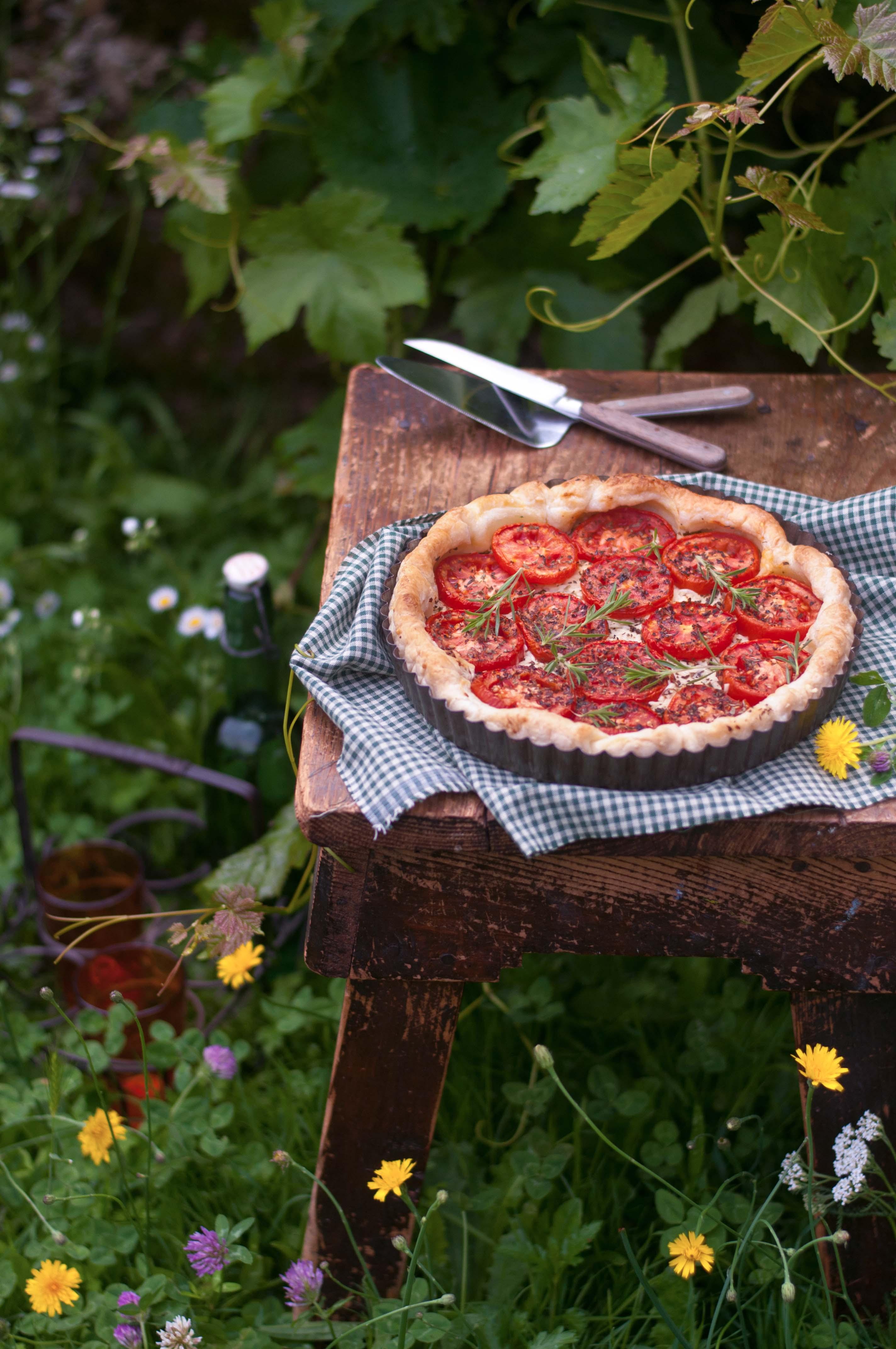 Tarte aux tomates fraîches